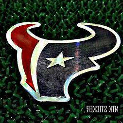 NFL Team Football Stickers HOUSTON TEXANS SUPER BOW LOGO DEC
