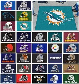 NFL Teams - Helmet Design 5' X 6' Tailgater Area Rug Floor M