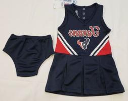 NWT Houston Texans Girls Cheerleader Costume 2 pc Set Infant