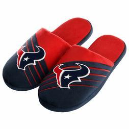 Pair Houston Texans Big Logo Slide Slippers - Team Color Hou