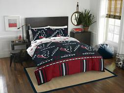 Bedding Set Queen Size Houston Texans Repeating Print Polyes