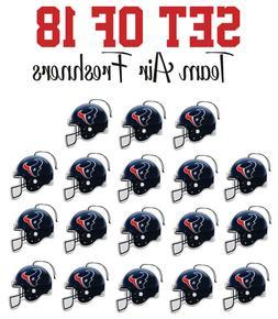 Set of 18 Houston Texans Team Helmet Car Vehicle Room Cave A