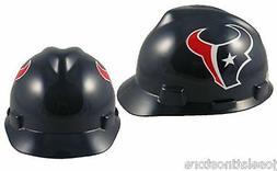 MSA V-Gard Cap Type Houston Texans NFL Hard Hat Pin Type Sus