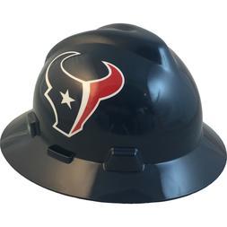 "MSA V-Gard FULL BRIM HOUSTON ""TEXANS"" NFL Hard Hat Type 3 RA"
