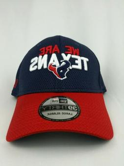 We Are Texans Houston 39thirty NFL Ball cap Battle Red White
