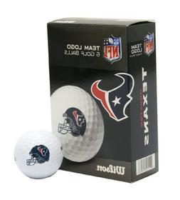 Wilson Houston Texans 6-Pack Team Helmet Golf Balls
